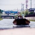 水上の渡せ舟で佐原の町へ・・7月11日