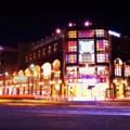 Photos: ある日の寒い日の横浜夜景・・忙しく通り過ぎる閃光 ワールドポーターズ前 20141212