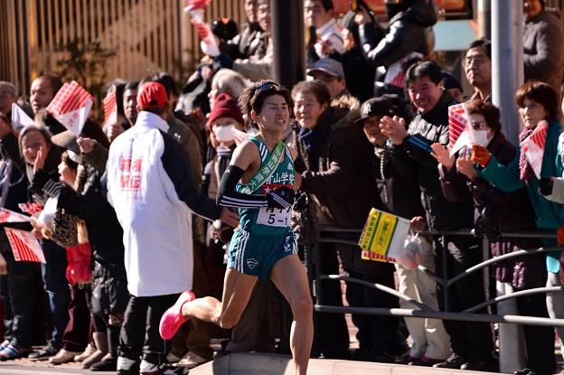 2位を突き放して独走態勢へ青学の藤川選手・・20150103