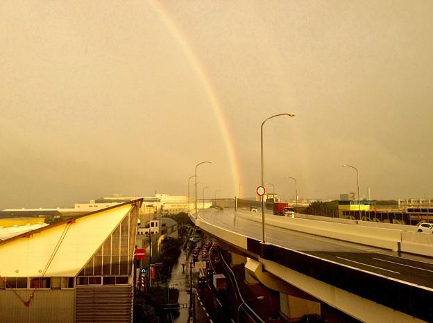 昨日大雨の合間の虹。。9月9日