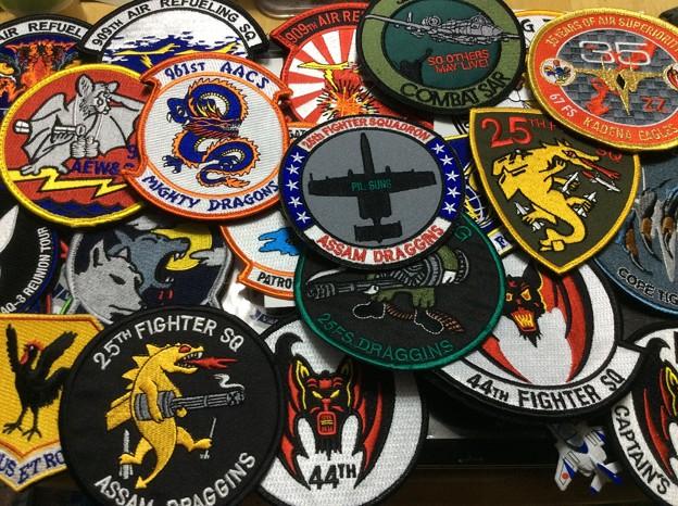 横田基地からの戦利品。。部隊パッチ群。。9月19日