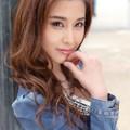 写真: 益田杏奈街灯微笑2L