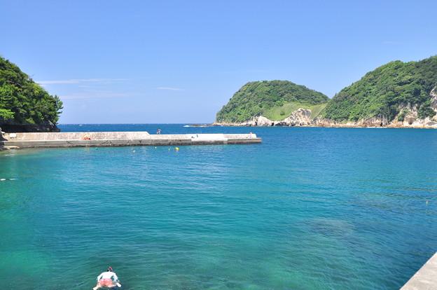 西伊豆、岩地の港