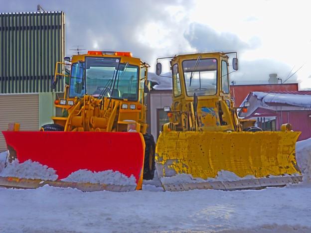 並ぶ除雪車