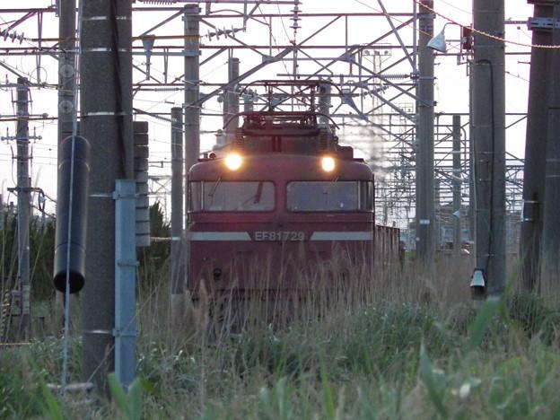 EF81‐729牽引2090レ~秋田貨物駅より本線へ
