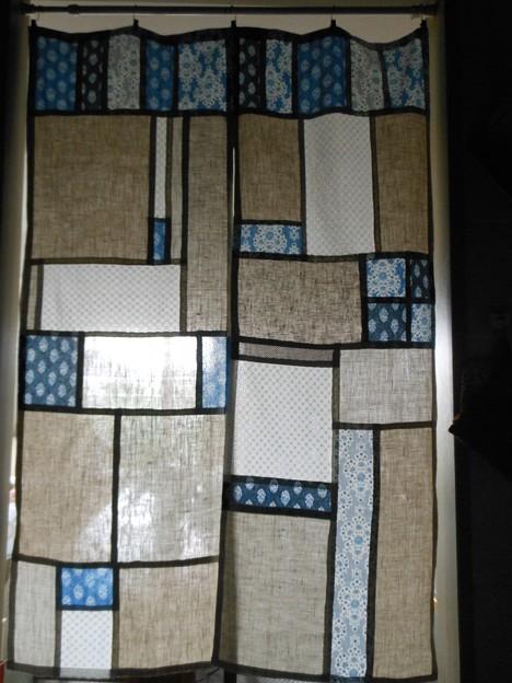 芸術的な暖簾