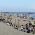 多くの海水浴客