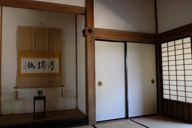 竹林寺の和室