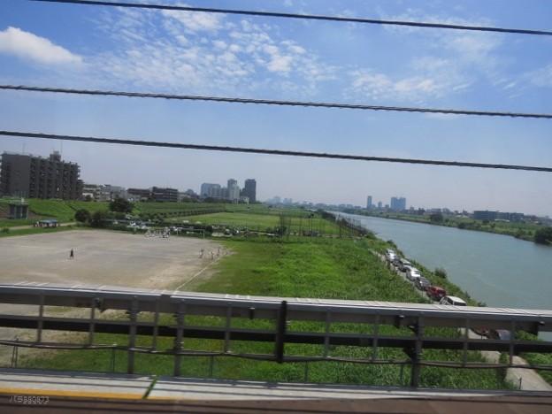 多摩川と運動場